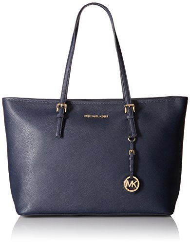 michael-kors-damen-jet-set-travel-medium-saffiano-leather-top-zip-tragetasche-blau-admiral-43x28x13-
