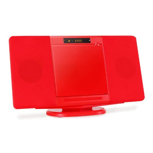 Inovalley CH 04CD Stereoanlage rot