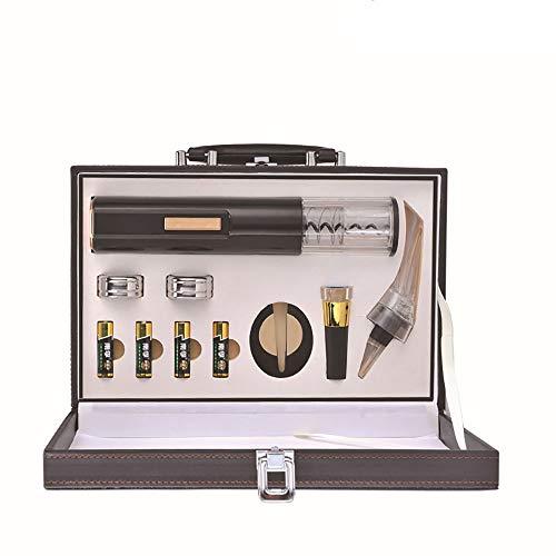 LIXUAN Elektrische Korkenzieher Wein Geschenkset, Trocken Batterie Angetriebenes Design, Elektrische Flaschenöffner Weinöffner, Kapselschneider für Weinflaschen, Black