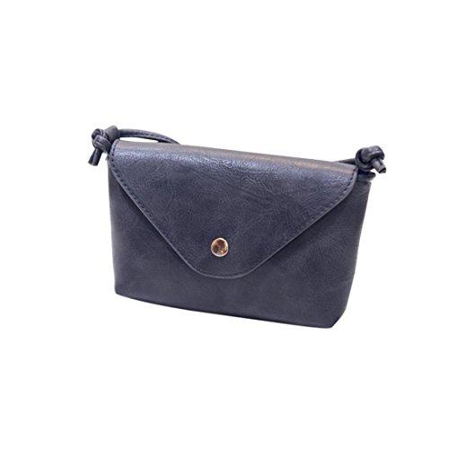 Hunpta Frauen Leder Handtaschen Umhängetaschen Schulter Taschen Messenger Taschen kleine Frauen Taschen Gray