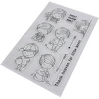 fxco transparente silicona Clear Stamps Junta de goma para DIY Scrapbooking tarjeta Fabricación