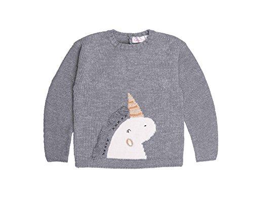 Garsumiss Jungen Mädchen Strickpullover Sweat Shirt Einhorn Weihnachtspullover 98 104 110 116 122 128 (Pullover Strickjacke Mädchen)