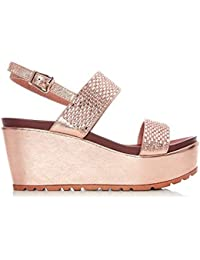 1d0640c55f915 Moda In Pelle Pinchello Rose Gold Porvair: Amazon.co.uk: Shoes & Bags
