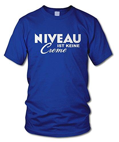 shirtloge - NIVEAU ist keine CREME - Kult T-Shirt - in verschiedenen Farben - Größe S - XXL Royal (Weiß)