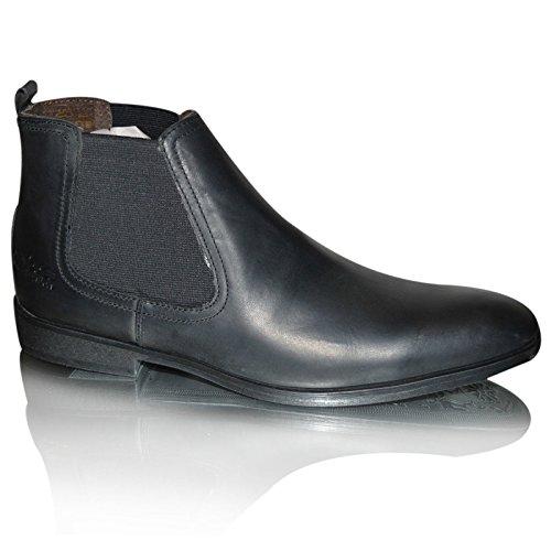 Base London Saffron, Boots homme Noir ciré