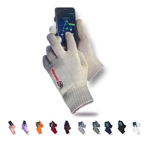 axelens guanti touch screen tattili invernali morbidezza e comfort unisex interno felpato per smartphone cellulari e tablet beige