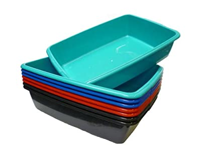 Whitefurze Plastic Large Cat Litter Tray (From 4 Colours)