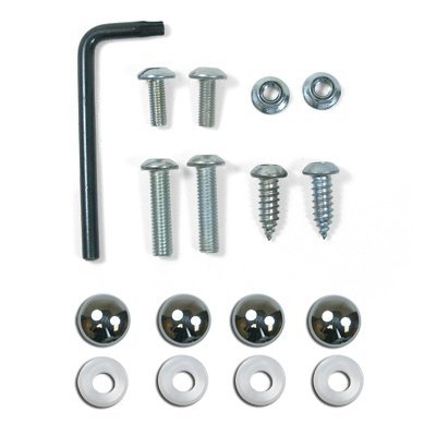 Auto License Plate and License Frame Chrome Lock Screw Hardware Kit by CarBeyondStore