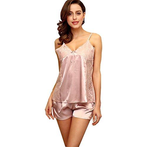 BOYANN Vestaglie e Kimono Pigiami e Camicie da Notte Donna Viola Pallido Rosa