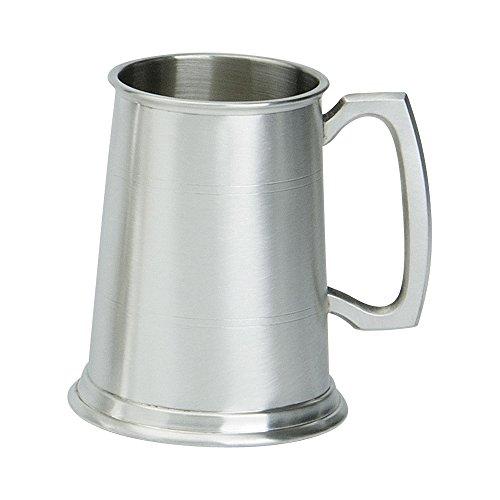 Edwin Blyde & Co 1pinta jarra con base de metal macizo–dos rayas...
