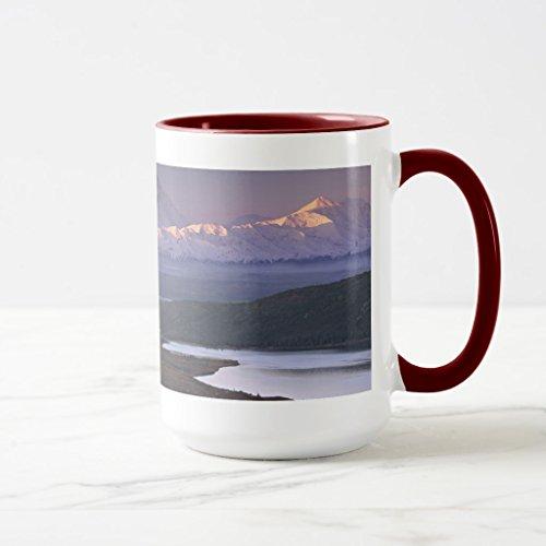 VGV-MUGS Zazzle Taken in Early September in Denali National Park Two-Tone Coffee Mug, Black Two-Tone Mug 11 oz