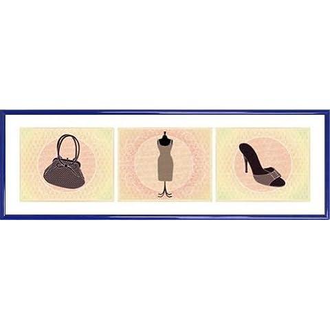 Moda Stampa D'Arte e Cornice (Plastica) - Vintage, Haute-Couture (91 x 30cm)