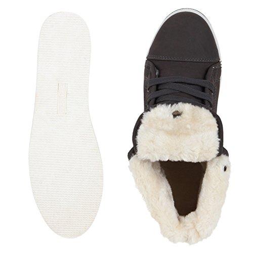 napoli-fashion , Chaussures de sport d'extérieur pour homme Dunkelgrau Weiss