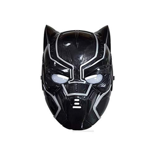 Black Marvel Kostüm Panther Helden - MODELSS Rächer Hulk Black Panther Ant Mann als leuchtende Maske Held Cosplay Geburtstagsgeschenk Party Halloween