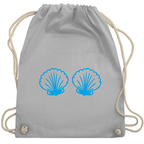 Karneval & Fasching - Meerjungfrau Kostüm blau - Unisize - Hellgrau - WM110 - Turnbeutel & Gym - Ideen Für Meerjungfrau Kostüm
