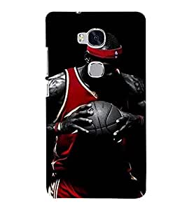 Printvisa Premium Back Cover Basketball Player in Action Design for Huawei Honor 5X:: Huawei Honor X5::Huawei GR5