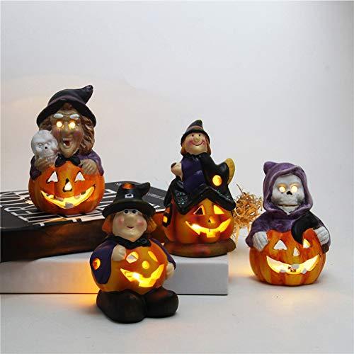 Amcool -Halloween 3D LED Lichter Light up Kürbis Blinkende Laterne Deko Schaum Halloween große Hexen Licht Tischdekoration Design Schaum-cup