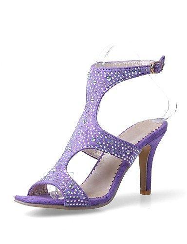 LFNLYX Scarpe Donna-Sandali-Formale / Serata e festa-Tacchi / Con cinghia / Aperta-A stiletto-Finta pelle-Nero / Blu / Viola Blue