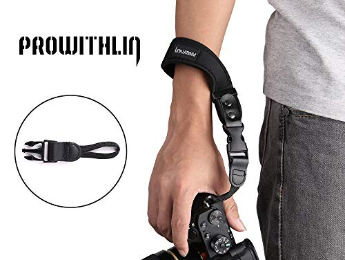 prowithlin verstellbare Kamera Handschlaufe für SLR Kameras DSLR, Pentax, Canon, Panasonic, Leica, Sony, Samsung, M4/3, NEX, Fujifilm, usw. (Waist-ST1-black)