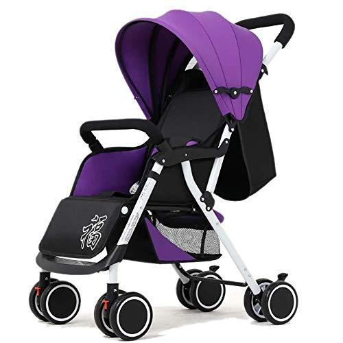 TZZ Kinderwagen Kinderwagen-Buggy, Compact Kinderwagen Kinderwagen Travel Buggy faltbare von Geburt/One Hand Falten/Leicht (Farbe : Lila)