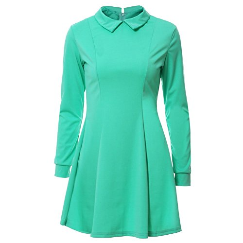 Moresave - Robe - Cocktail - Manches Longues - Femme green