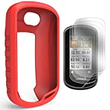 TUSITA Schutzhülle mit Displayschutzfolie für Garmin Oregon 600 / 600t / 650 / 650t / 700/750 / 750t Handheld GPS Silikon Hautschutzhülle (ROT)
