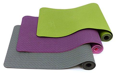 Fitem - Esterilla de gimnasia y yoga de TPE - Eco Natura - Reversible, antideslizante y respetuosa con el medio ambiente - 183 x 61 x 0,6 cm