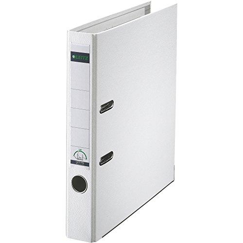 Leitz Raccoglitore con meccanismo a leva 180°, Formato commerciale, Plastica, Dorso 5 cm, Bianco, (Raccoglitore Ad Anelli Files)