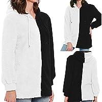 Hanomes Damen pullover, Frauen Winter Casual Reißverschluss mit Kapuze Patchwork Sweatshirt Bluse Tops Shirt preisvergleich bei billige-tabletten.eu