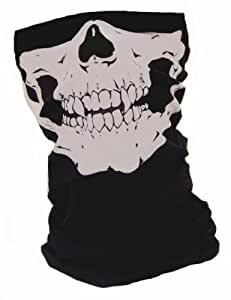 """Tour de cou Masque Cagoule Polaire """"Ghost - Tete de mort"""" - Matière Microfibre + Polaire - Style Call of Duty Ghosts Modern Warfare MW3 Black Ops COD Battlefield Medal of Honor Xbox 360 One Ps3 Ps4 - Airsoft - Paintball - Ski - Moto - Biker - Outdoor"""