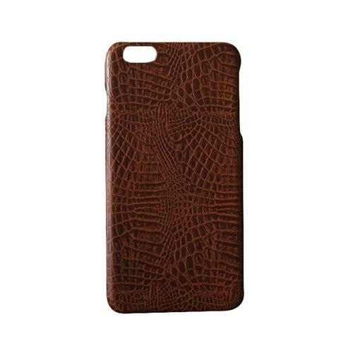 """F8Q luxe souple Crocodile PU cuir peau Phone Housse Case pour iPhone 6/6S 4.7 """" marron"""