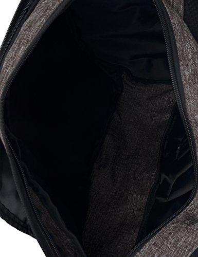 Douguyan Nylon Shoulder Tasche Jungen Umhänge Rucksack Herren Schulterrucksack Brusttasche Sporttasche Fahrrad Rucksack Crossbag Bodybag Sling Bag Triangel Rucksack für Radfahren, Schule, Freizeit Gra Braun