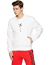 Calvin Klein Performance Zip Through Bomber with Statement Logo at Back