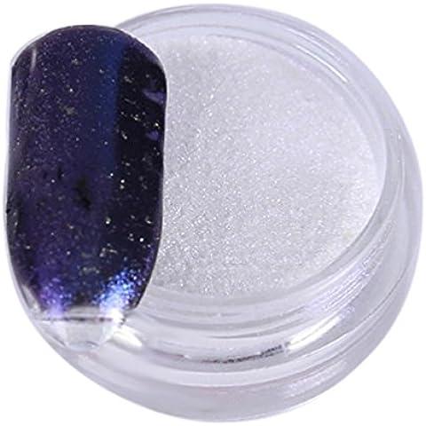 Ouneed® 1 Box Oro Argento Nail di scintillio polvere brillante Nail Specchio Powder (Viola)