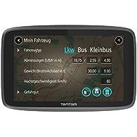 TomTom GO Professional 6200 LKW-Navigationsgerät (Updates über Wi-Fi, 15,2 cm (6 Zoll), Smartphone-Benachrichtigungen, Lebenslang Karten-Updates Europa, 1 Jahr Traffic und Radarkameras)