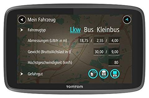 TomTom Go Professional 520 LKW-Navigationsgerät (Update via Wi-Fi, (12,7 cm) 5 Zoll, 50.000 POIs, Smartphone Benachrichtigungen, Lebenslang Karten (Europa), Lebenslang Traffic und Radarkameras) (Navi Sprachsteuerung)