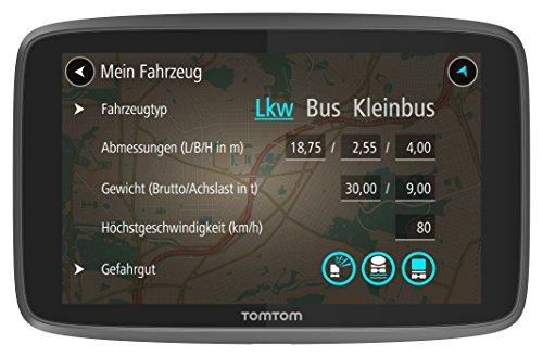 TomTom Go Professional 6200 LKW-Navigationsgerät (Update via Wi-Fi, (15,24 cm) 6 Zoll, 50.000 POIs, Smartphone Benachrichtigungen, Lebenslang Karten (Europa), 1 Jahr Traffic und Radarkameras) schwarz