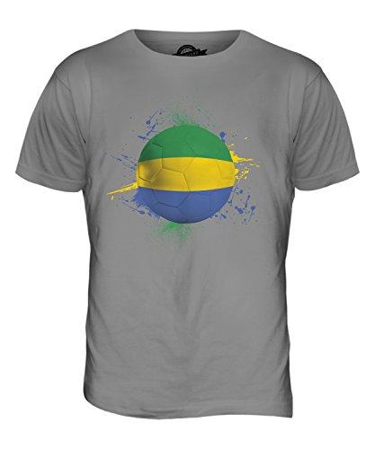 CandyMix Gabon Calcio T-Shirt da Uomo Maglietta Grigio chiaro