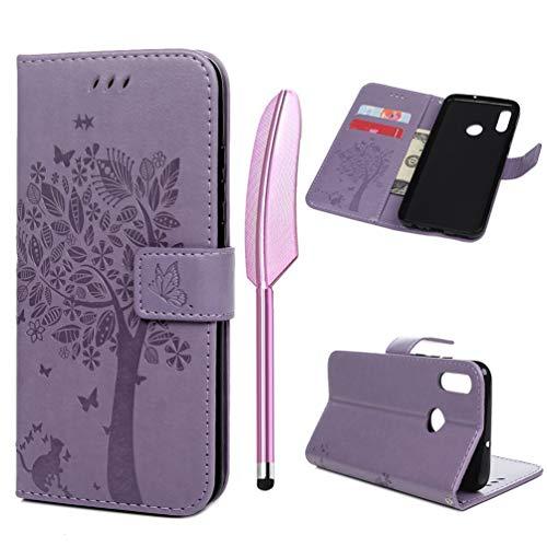 a1642617 Huawei Honor 10 Lite Handhülle, Buch Form Hülle PU Kunstlich Lederhülle  Floral Schutzhülle Geprägt Flipcae