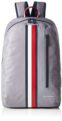 Tommy Hilfiger Herren Th Weatherproof Backpack Rucksack, 16 x 47 x 32.5 cm Grau (Frost Gray)