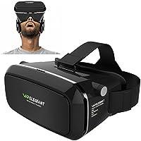 Casque VR, ELEGIANT Lunettes 3D VR Google Carton Jeux Vidéo 360 Affichage de Réalité Virtuelle Compatible avec taille de l'écran 3.5-5.5 pouces pour Samsung Galaxy S8 S7 S6 iPhone 8 7 6 Android Iphone
