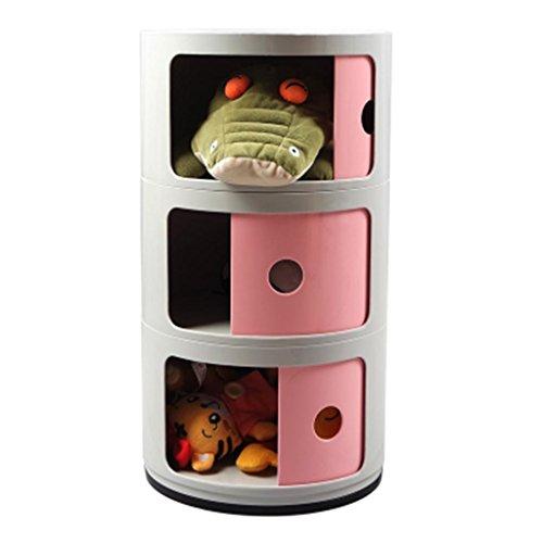 Moderne Einfache Kinder Spielzeug DREI-Schicht Box Schubladentyp Schrank Baby Regale Racks, 32 * 58 cm, 10 Farben erhältlich, ash + Powder (3 Layers) ()