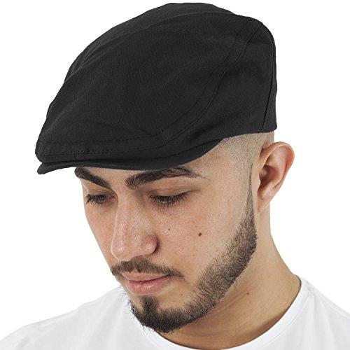 Hat Tricks par PARIELLA TM Hommes Brosse Casquette en Coton-Black