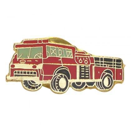 Ashton and Finch Red Fire Engine Feuerwehr Metall Emaille Revers Anstecknadel
