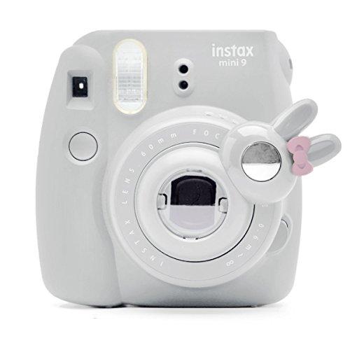 Süßes Häschen Selfie und die Nahaufnahme Lens für Fujifilm Instax Mini8 Mini9 Hellokitty Instant Kamera(Smokey Weiß) Hello Kitty Kamera