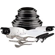 42a1e36b02e317 Tefal L2009702 Set de poêles et casseroles - Ingenio 5 Essential Noir Set 20  Pièces -
