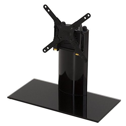 """King Pied de support en Verre pour écran plat/LCD/LED/plasma TV 12""""-32"""" pouces, VESA 200x200mm, reglable support mural pivotant et inclinaison, noir, max. 15kg"""