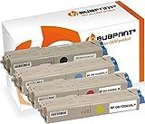 Bubprint 4 Toner kompatibel für Oki 46490608 46490607 46490606 46490605 XL für C532 DN C532DN C542DN MC563DN MC573DN Schwarz Cyan Magenta Gelb