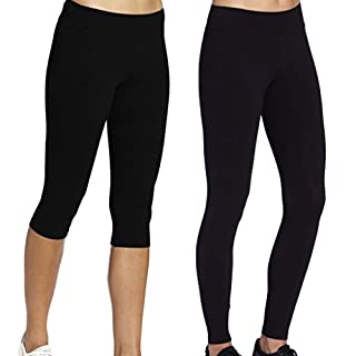 iLoveSIA 2X Leggingshosen Leggings Sport Damen Hosen Laufen Hose Joggings Schwarz Slim fit,Größe M
