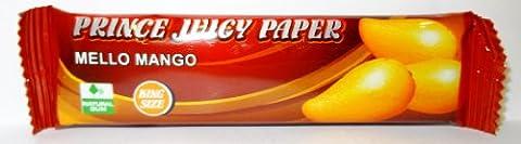 Prince King Size juicy Papier Mello Mangue 15 blocs de feuilles à rouler Goût Par Trendz